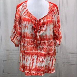 French Laundry Short Sleeve Blouse 1X